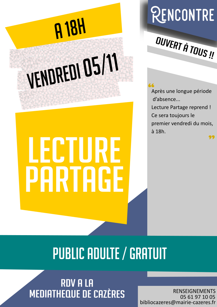 Read more about the article RENCONTRE LECTURE PARTAGE