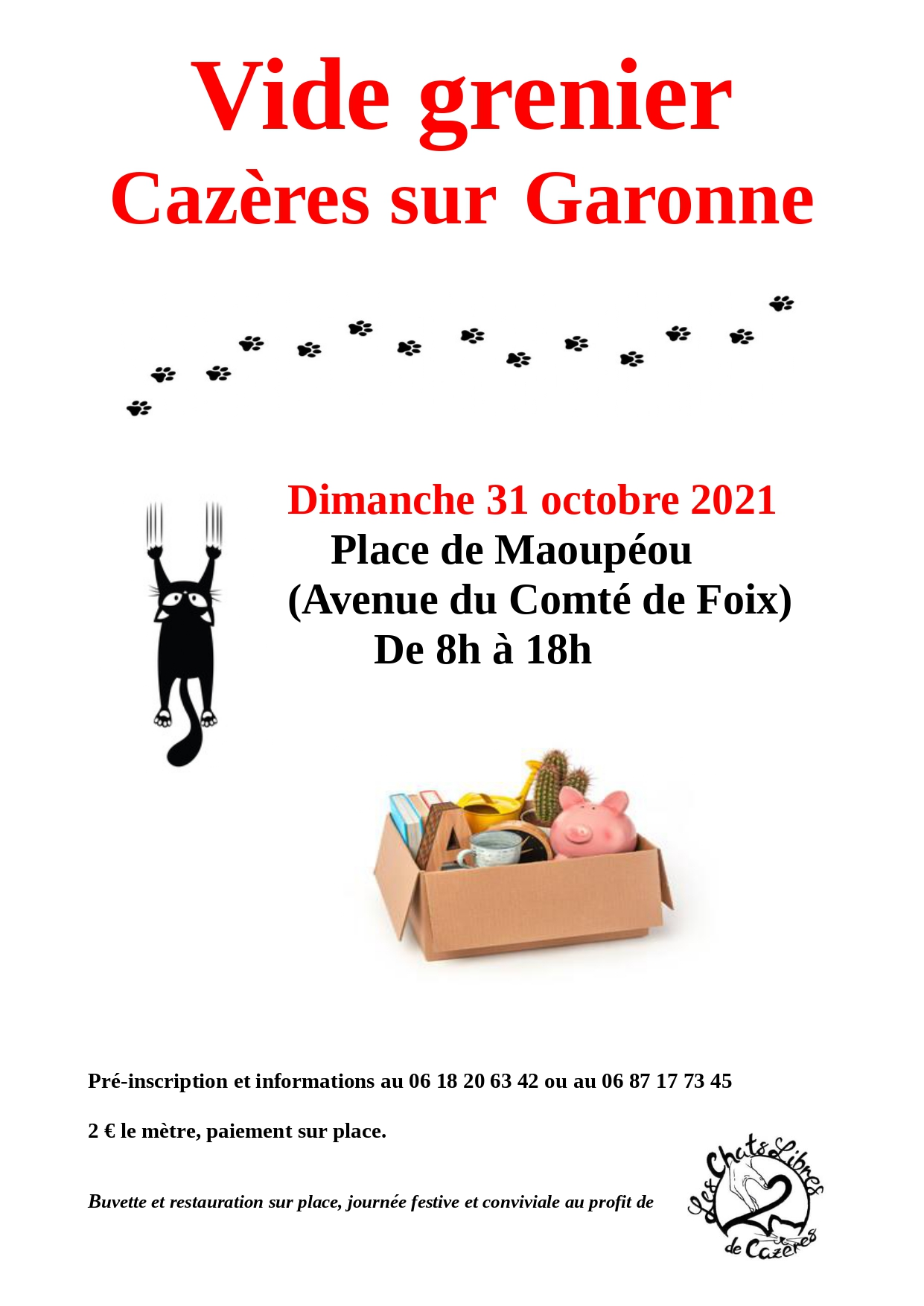 Read more about the article VIDE GRENIER LES CHATS LIBRES